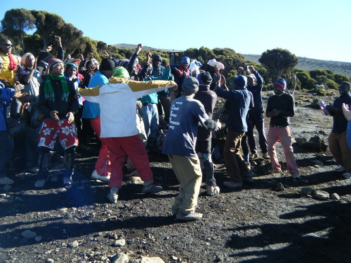 Kilimanjaro summit success dance