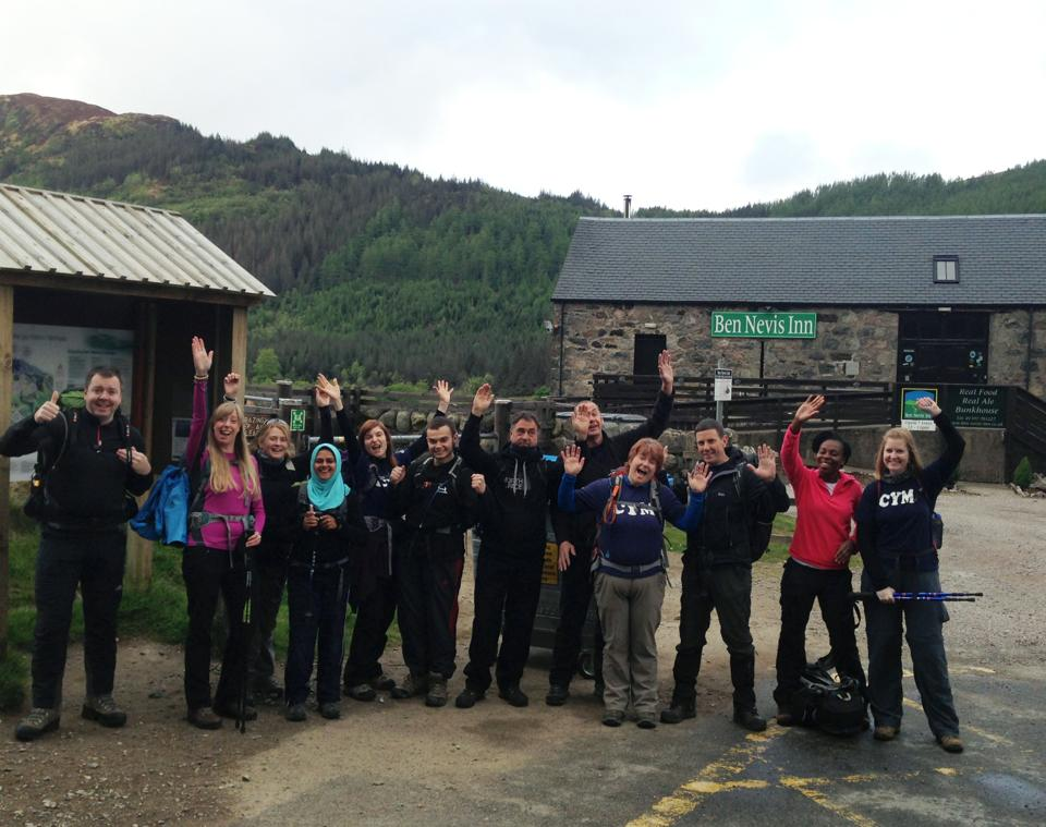 Quick group shot before we set off...