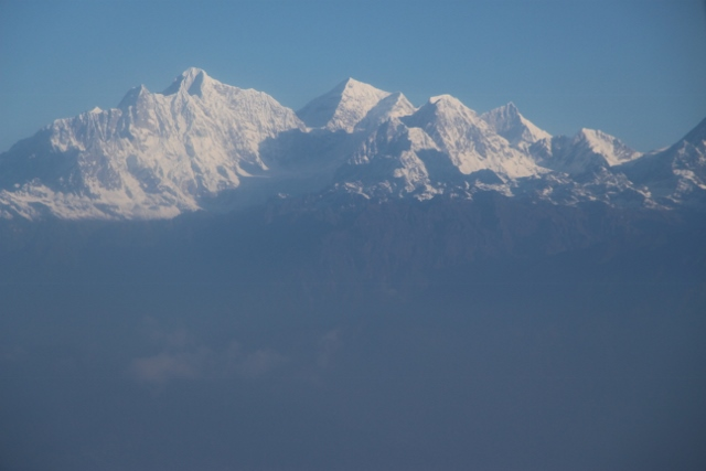 View from plane to Lukla