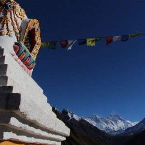 Stupa with Everest in background