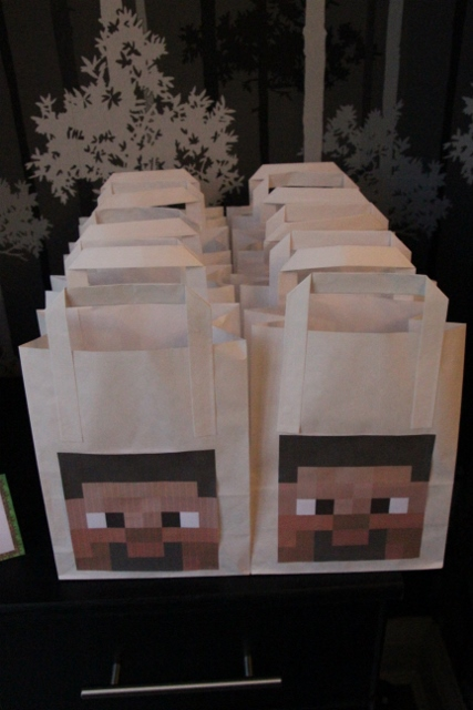 Minecraft party bag ideas