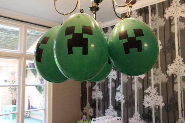Minecraft Creeper Balloons - Party Ideas