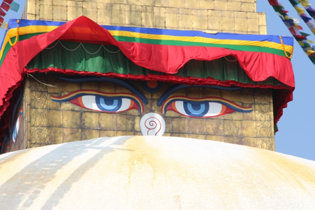 The eyes of Boudhanath