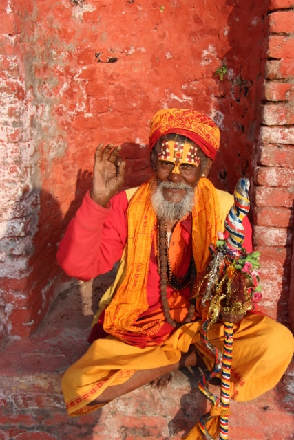 Sadhu at Pashupatinath Temple Nepal