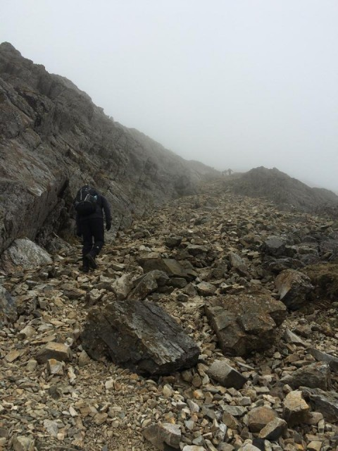 Scree slope to Glyder Fawr